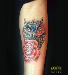 #Sowa#tatuaż#loch#Lochstudio#Lochstudiotattoo
