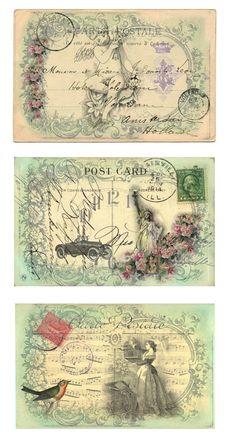 Pretty postcards ephemera omnia praeclara rara: Bügeltransferfolien