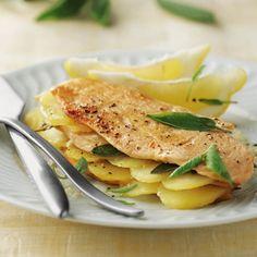 Receta de pechuga de pollo al limón Breakfast For Dinner, Special Recipes, Mediterranean Recipes, Empanadas, Healthy Drinks, Food And Drink, Chicken, Cooking, Ethnic Recipes