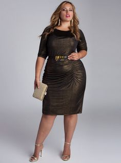 Nezetta Cocktail Dress in Black/Gold. IGIGI by Yuliya Raquel. www.igigi.com