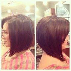 My work at The Salon and Spa at Mystic Hair. This would be an angled long bob. If your looking for this and other types a great hair care works. Call mystic hair and ask for Cortney Watson. 813.264.2215 in Tampa.