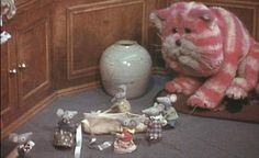 The 1970s TV show Bagpuss featured mice who sang in falsetto tones -- Never seen it, but now I want to!