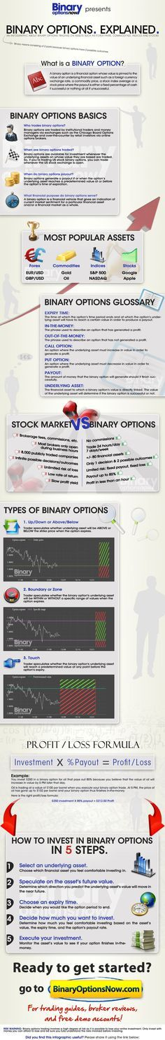 what are binary options infopgrahic