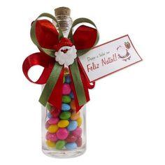 Garrafinha com Confetes de Chocolate com Papai Noel $4.90