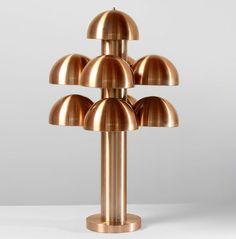 Maija Liisa Komulainen; Copper-Anodized Aluminum 'Cantharelle; Table Lamp for Raak, c1970.