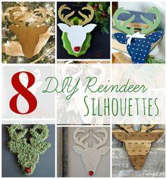 8 DIY Reindeer Silho