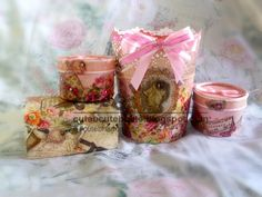 Decoupage: Valentine's Europe style gift set  For purchasing, raw material, custom order or decoupage and bath bomb class info, please contact us at cuteb1225@yahoo.com