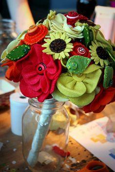 More Felt Flower Bouquets