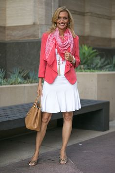 New blog story how to make an all white outfit pop www.jacketsociety.com