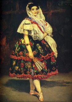 Édouard Manet-Lola de Valencia (1862). Musée d'Orsay, Paris