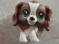 Littlest Pet Shop RARE Cocker Spaniel Dog Puppy 156 Brown White Freckles LPS | eBay