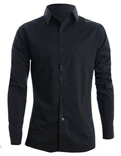 FLATSEVEN Mens Slim Fit Basic Dress Shirts Long Sleeve (SH400) Black, M FLATSEVEN http://www.amazon.com/dp/B008LWDEWU/ref=cm_sw_r_pi_dp_jUf2ub1CJS656 #FLATSEVEN #Shirts #Long sleeve #Slimfit