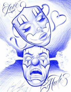 #dessin #masque #mask #visage #face #fille #girl #homme #man #blackandwhite #amour #love #hate #haine #blackandwhite #bleu #blue