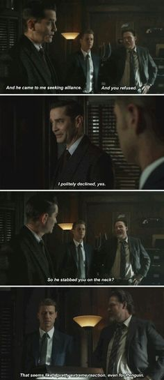 """I politely declined"" - Galavan, Jim and Bullock #Gotham"