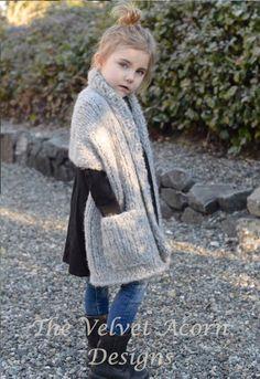 Elmy Wrap Knitting pattern by The Velvet Acorn Crochet Poncho, Crochet Baby, Knitting Projects, Crochet Projects, Velvet Acorn, Knitting Patterns, Crochet Patterns, Super Bulky Yarn, Hooded Scarf
