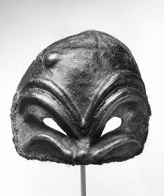 Arlechinno leather Commedia mask 18th century