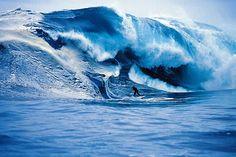 Wave theory ... Tasmanian Andy Campbell at Shipstern Bluff.