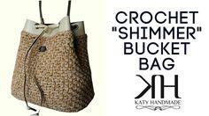 Tutorial borsa a secchiello uncinetto   Bucket bag crochet    Katy Handmade