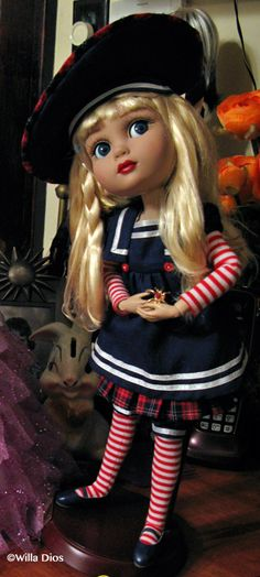 """Ahoy Patience"", a Robert Tonner-Wilde Imagination doll.  Photograph ©Willa Dios"
