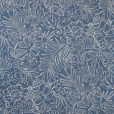 Fabric Patterns Blue color Foliage and Tropical and Floral pattern Jacquard type Upholstery Fabric called Reef by KOVI Fabrics - Blue color Foliage and Tropical and Floral pattern Jacquard type Upholstery Fabric called Reef by KOVI Fabrics Textiles, Textile Patterns, Print Patterns, Floral Patterns, Surface Pattern Design, Pattern Art, Greenhouse Fabrics, Art Chinois, Art Japonais