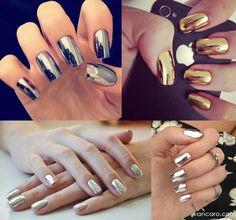 Metallic nails ♡♥♡