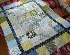 Asterisk Quilt -  maybe more randomly placed instead of in every square