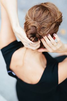 Love the chignon.