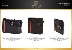 #Borse in #pelle - Basic con dettagli in arancio / #Leather #bags - Basic with orange by ITALUXURY | #Luxury Leather Goods & Accessories - Made in Italy. Website: www.italuxury.com