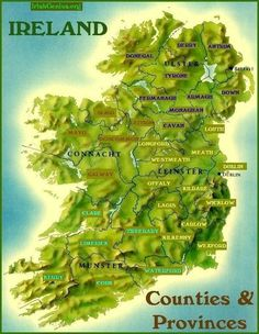 map of Ireland counties