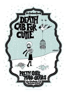 Tara McPherson | ART Posters 2004 Death Cab For Cutie, Pretty Girls Make Graves