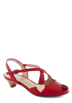 CUTE! Love the low heel and the little gold heart ... perfect easy wedding shoes.
