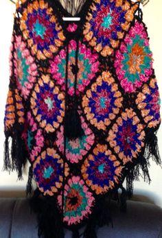 Women Winter Hand Knitted Handmade Woolen Warm Poncho Sweater Pullover Floral   eBay