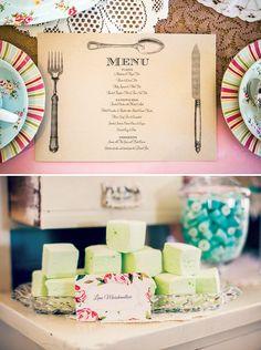 high tea bridal shower   Do we need a menu sign?