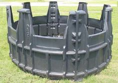 homemade roundbale hay feeders   ... HAY FEEDER - POLY ROUND BALE FEEDER FOR HORSES AND HAY RINGS FOR ROUND