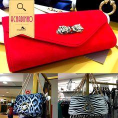 Você já veio conhecer a collection de Roberto Cavalli para a CeA?  Hoje vamos mostrar algumas das bolsas da coleção. Amamos as cores fortes, estampas de animal print e, é claro, as alças de correntes. Chiquérrimo!