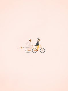 "charming little ""just married"" illustration"