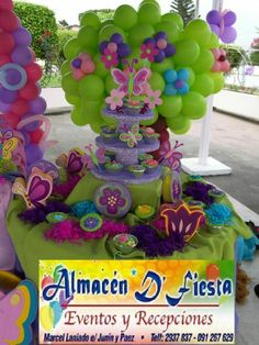decoracion de fiestas infantiles Butterfly Party, Butterfly Decorations, Diy Party Decorations, Baby Shower Decorations, Birthday Party Centerpieces, Balloon Centerpieces, Balloon Decorations, Birthday Parties, Balloons Galore