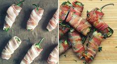 Low Carb Rezept für leckere gefüllte Jalapeño-Bacon Poppers. Wenig Kohlenhydrate und einfach zumNachkochen.Super für Diät/zum Abnehmen.