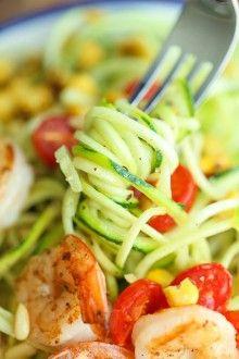 Shrimp and Zucchini Noodles - Damn Delicious