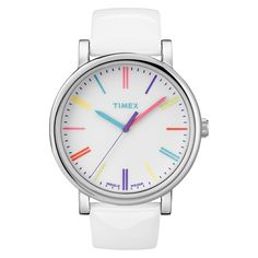 2dd0c31f68ab Women s Timex Originals Watch with Markers and Patent Leather Strap - White  T2N7912B