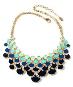 Amrita Singh Teal & Blue Ombré Bib Necklace | zulily