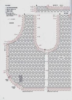 Crochet: Bolero Crochet Bolero, Gilet Crochet, Crochet Vest Pattern, Crochet Motifs, Crochet Diagram, Crochet Cardigan, Crochet Lace, Crochet Stitches, Crochet Hooks