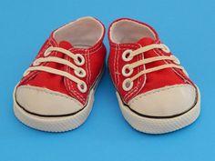 Red American Girl Doll Sneakers by Emmasdollshop on Etsy