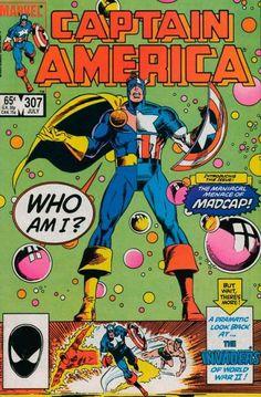 Captain America # 307 by Paul Neary Marvel comics comic book cover Captain America Comic Books, Marvel Captain America, Marvel Comic Books, Comic Book Characters, Marvel Heroes, Comic Books Art, Marvel Dc, Marvel Comics, Book Art