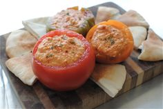 Roasted Tomato Hummus   Bev Cooks Recipes looks delish you have to scroll to bottom to find link for it