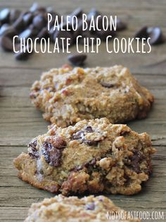 Yes, you read that right. Paleo Bacon Chocolate Chip Cookies.