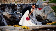 Palm Springs Wedding. Indian Wells Country Club. www.indianwellsclub.com. Bridal Gown, Wedding Dress, Kiss, Indian Wells Country Club, Desert Waterfall