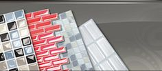 Peel and Stick Tiles - Great for apartments where you cannot make a permanent change.