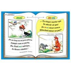 "Plansa Ortograma ""m-ai"" / cuvantul ""mai"" Romanian Language, Kids And Parenting, Worksheets, Classroom, Teaching, Baseball Cards, School, Crafts, Literatura"
