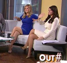 Kimberly Guilfoyle - great legs & gold heels